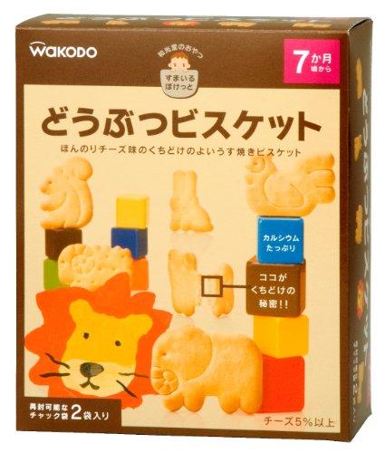 『和光堂のおやつすまいるぽけっと どうぶつビスケット (25g×2袋)×4箱』のトップ画像