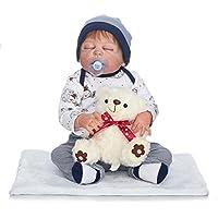 NPKDOLL ラブリー人形 リボーンドール 22インチ 55cm ハードシミュレーション シリコン製 男の子 女の子 赤ちゃん用ラグ 子供用 イエローベア 男の子 誕生日プレゼント