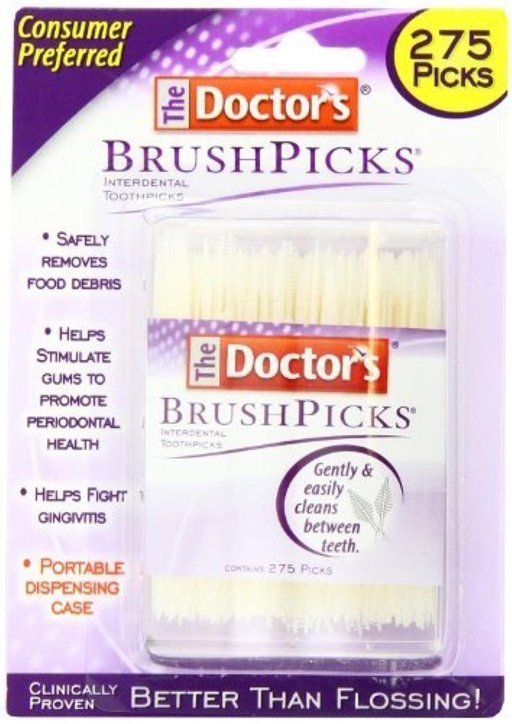 マチュピチュサンダースシンカンドクターズ ブラシピックス 275カウント x 2パック Doctor's Brushpicks, 275 Count (Pack of 2) by The Doctors [並行輸入品]