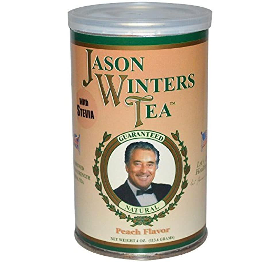 修復妨げる保持する海外直送肘 Pre-Brewed Tea with Stevia, Peach 4 Oz