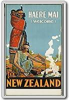 Haere Mai Welcome To New Zealand - Vintage Travel Fridge Magnet - ?????????