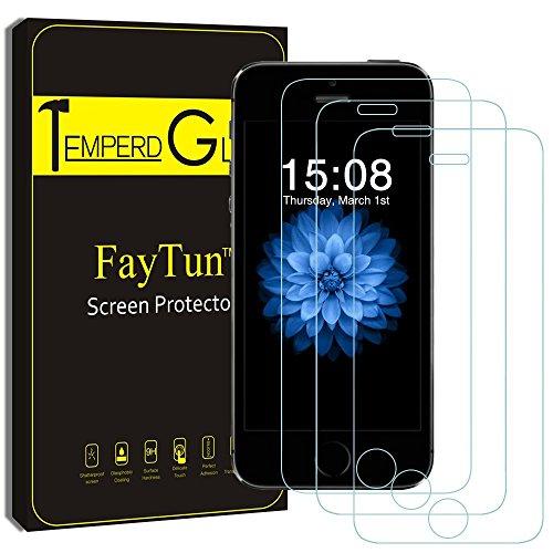 iPhone5S 5 5C SE 保護フィルム-FayTun(3枚セット)iPhone5S 5 5C SE ガラスフィルム- 日本製素材 旭硝子 液晶保護フィルム 保護シート 硬度9H 飛散防止 指紋防止 超薄 3Dtouch対応 自己吸着 気泡ゼロ 耐衝撃 高精細 高透明