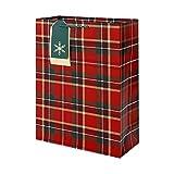 クレールフォンテーヌ クリスマスペーパーバッグ Tartan XL cfX-27345-1W