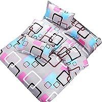 MUMUWU フラットシートLinensetホームテキスタイルベッドのダイヤモンドのベルベット寝具4本セットし寝具セットグリーン布団カバーベッド (Color : Multi-colored, Size : 1.5M)