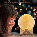 CUagain 3D印刷ムーンランプUsb充電タッチライトホームナイトライトのためのクリスマスデコレーションLedベッドサイドランプ明るさ2色のベッドサイドランプ(10CM)