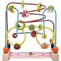 Demiawaking かわいい幼児?子供 教育教材 時計のラウンド ビーズ? 木のおもちゃ 啓蒙教育