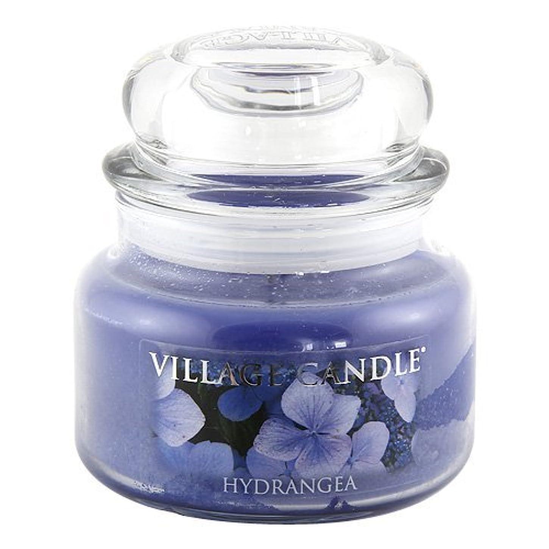 荷物華氏拡大するVillage Candle Hydrangea 11 oz Small Glass Jar Scented Blue [並行輸入品]