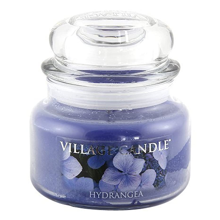 委託抽象ライトニングVillage Candle Hydrangea 11 oz Small Glass Jar Scented Blue [並行輸入品]