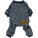 Fitwarm Knitted Thermal Pet Clothes for Dog Pajamas PJS Coat Jumpsuit, XL