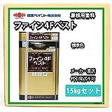 ファイン4Fベスト 15kgセット 標準色 ダークチョコレート【メーカー直送便/代引不可】日本ペイント 屋根用 塗料
