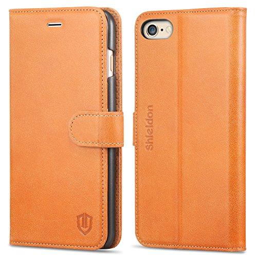 iPhone6s Plus ケース 手帳型 / iPhone6Plus ケース 手帳型 本革 SHIELDON アイフォン6sプラス ケース手帳型 カード入れ スタンド機能 ボタン式 レトロブラウン