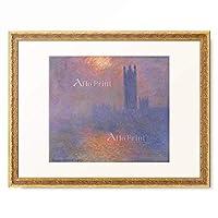 クロード・モネ Claude Monet 「Londres, Le Parlement, Trouee de Soleil dans le Brouillard (London, the Parliament, Effects of Sun in the Fog) 」 額装アート作品