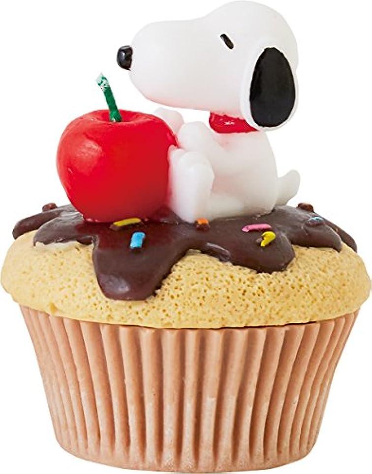 認可せせらぎ病的カメヤマキャンドルハウス スヌーピーカップケーキキャンドル チョコ(チョコレートの香り)