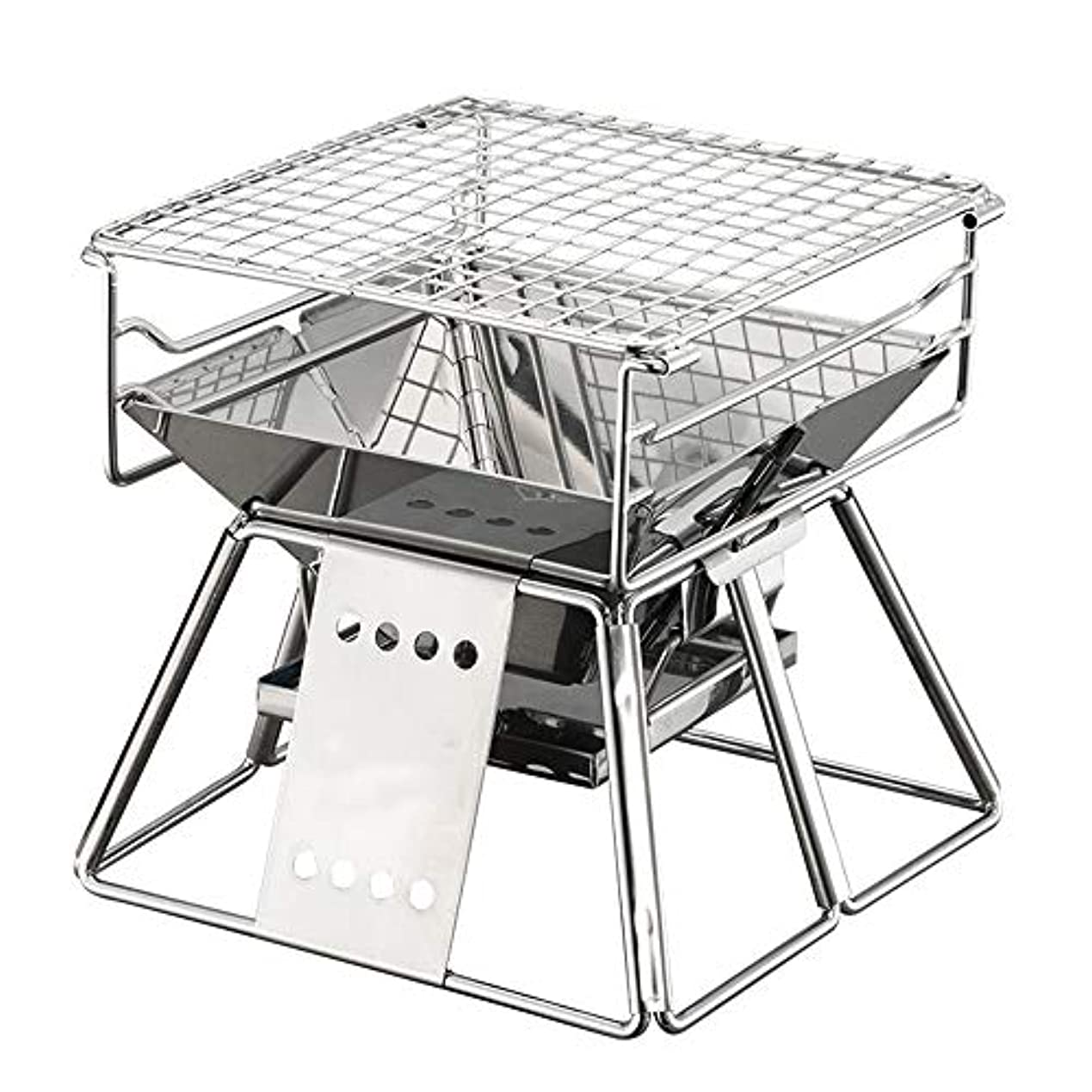 猟犬以来大統領屋外グリルポータブル折りたたみカップルグリルステンレス鋼調節可能な1-3人小さな炭ボイラー用屋外調理キャンプハイキングピクニック