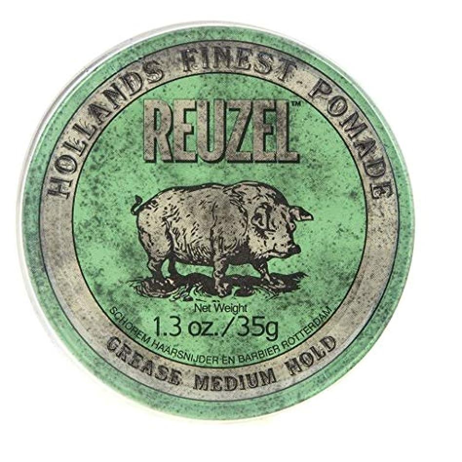 においきらめき克服するルーゾー グリーン ミディアムホールド グリース ポマード Reuzel Green Medium Hold Grease Pomade 35 g [並行輸入品]