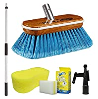 Star Brite Premium Brush Combo - Heavy Duty Extending 0.9m - 1.8m Handle with 20cm Synthetic Wood Brush
