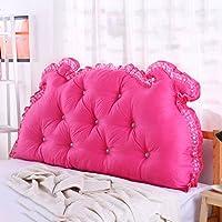 枕 ベッドサイドクッションダブルバッククッションソファ背もたれトライアングルロングソファベッドベッドピローコットンウエスト 戻る (色 : 3, サイズ さいず : 1m)