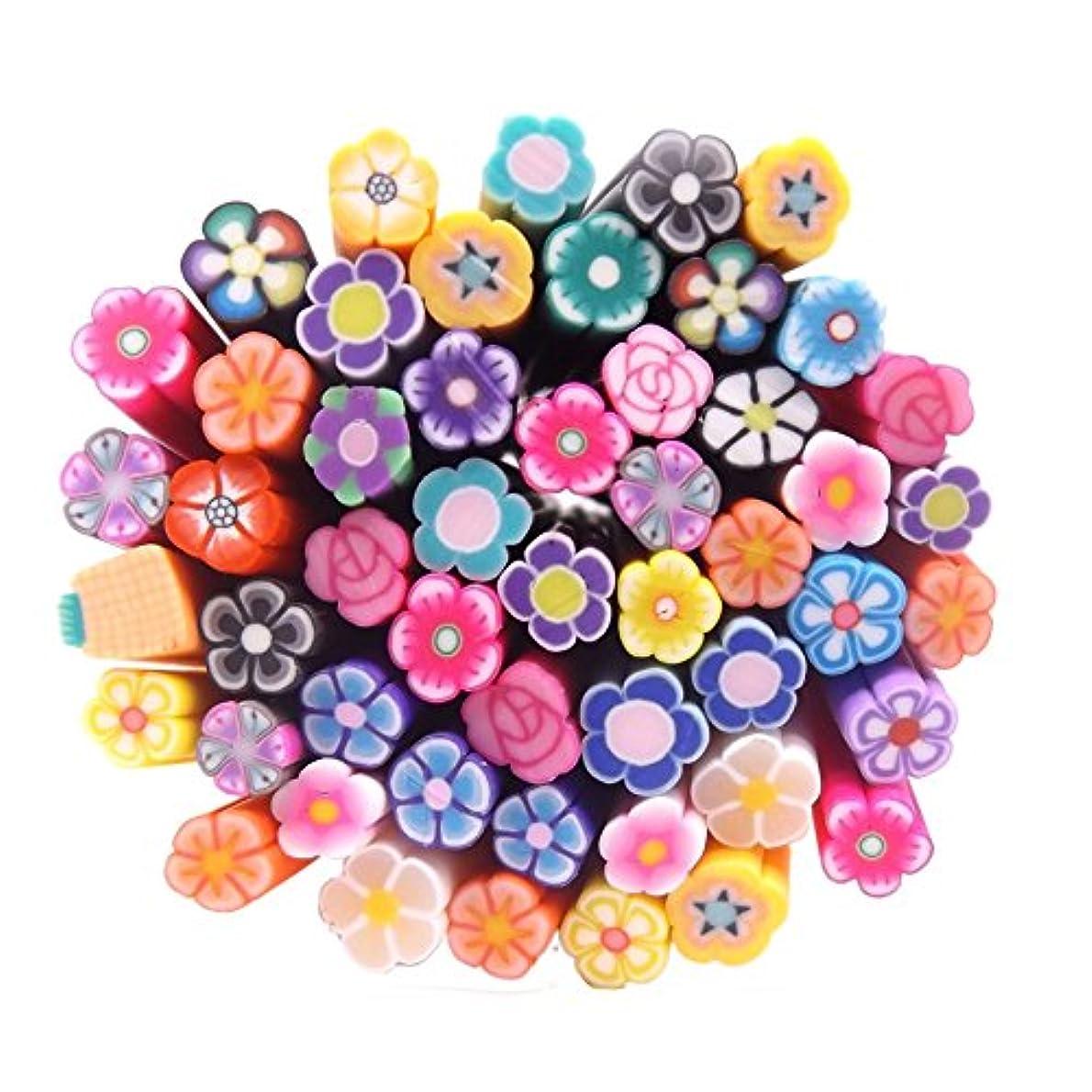 合併建物ボタン(ウォームガール)Warm Girl かわいい ネイルアートパーツ スライス棒 50本セット (4)