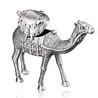 Infinite U ダイヤモンド付き駱駝造型金属製アクセサリーケース 格別な飾りボックス 亜鉛合金 銀色 中