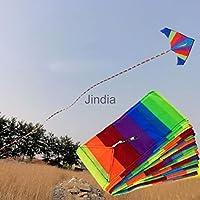 オリーブus-33ftスーパーナイロンStunt Kite Tail Rainbow Line KiteアクセサリーKidアウトドアおもちゃ