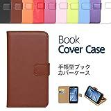 """【ケートラ】 ASUS ZenFone MAX ZC550KL ケース 手帳型 ブックカバーケース """"Book Cover Case"""" 手帳型ケース カバー 手帳型 (ZenFone Max ZC550KL, ブラウン)"""