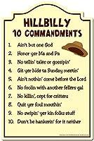 "Hillbilly 10CommandmentsノベルティSign |面白いホームインテリアガレージ壁 11"" X 17"" P-1117 Hillbilly 10 Commandments"