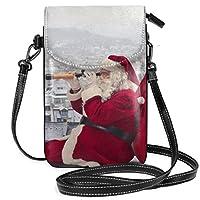 サンタクロース クリスマス ミニバッグ レディース ショルダーバッグ 携帯ポーチ 軽量 便利 ショルダーバッグ 携帯電話の財布