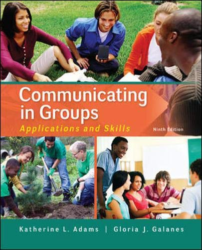 Download Communicating in Groups: Applications and Skills 0073523860