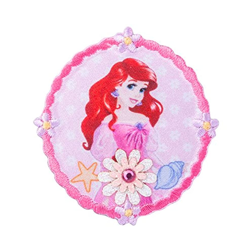 書士肉の申し立てるミノダ ディズニープリンセス フラワーワッペン小 Disney アリエル M D01Y0382