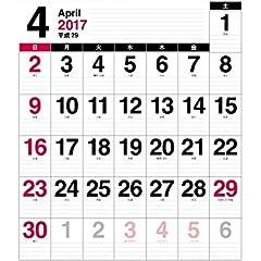 2017年【年度版】4月始まり壁掛カレンダー A2 ホワイト CKN-59