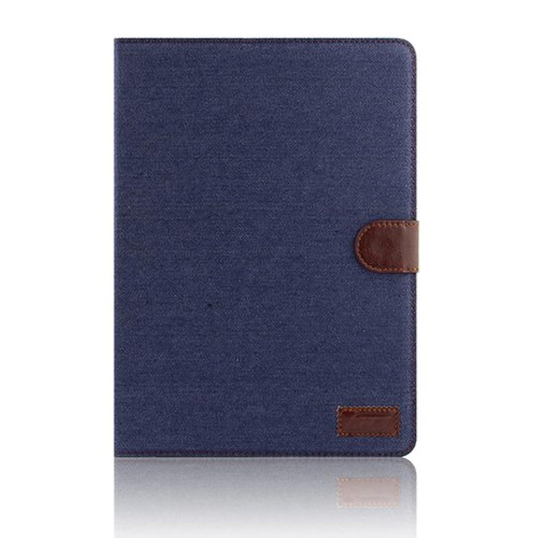 機械的シンポジウム満員【ノーブランド品】iPad Air2 専用 シンプルで長く使える ジーンズカバー ブラックジーンズ 【全3色】 スタンド機能付 iPad 第6世代 iPad Air jeans Cover / iPad6 Case black jeans