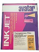 """アバターat2900by Labelonインクジェット透明フィルム、取り外し可能なストライプ、8.5X 11""""シート、50シート"""