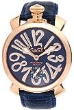 [ガガミラノ]GAGA MILANO 腕時計 ブルー文字盤 ステンレス(PGPVD)ケース 裏蓋スケルトン スイス製 5011.05S-BLU メンズ 【並行輸入品】