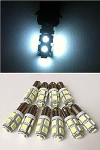 (ライティーン)lighteen BA9S 9連 24v LED 3chip 5050 SMD セット (色・個数選択可) ホワイト 10個