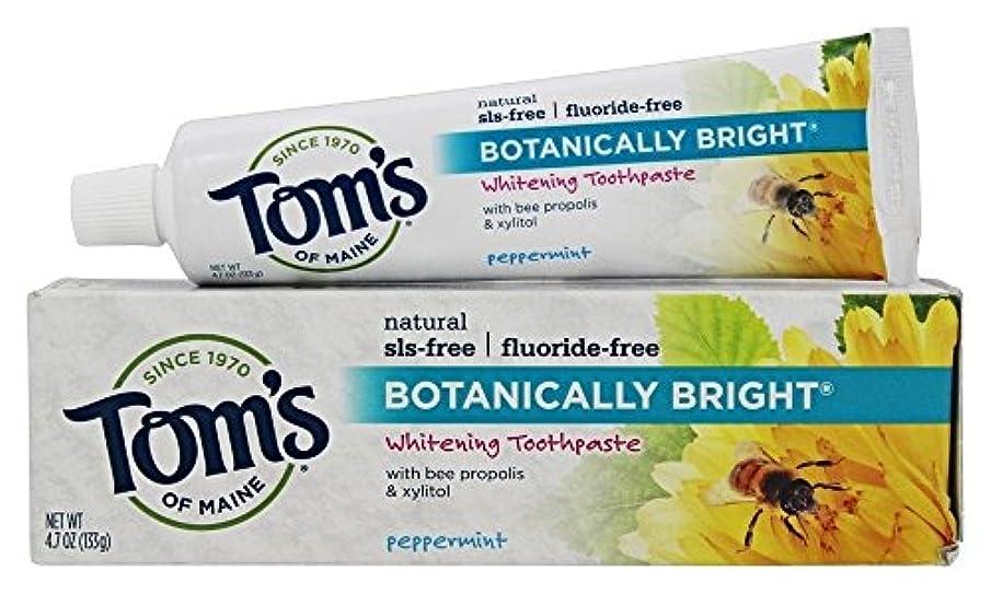 計算なめるウガンダBotanically Bright Whitening Toothpaste Peppermint - 4.7 oz - Case of 6 by Tom's of Maine
