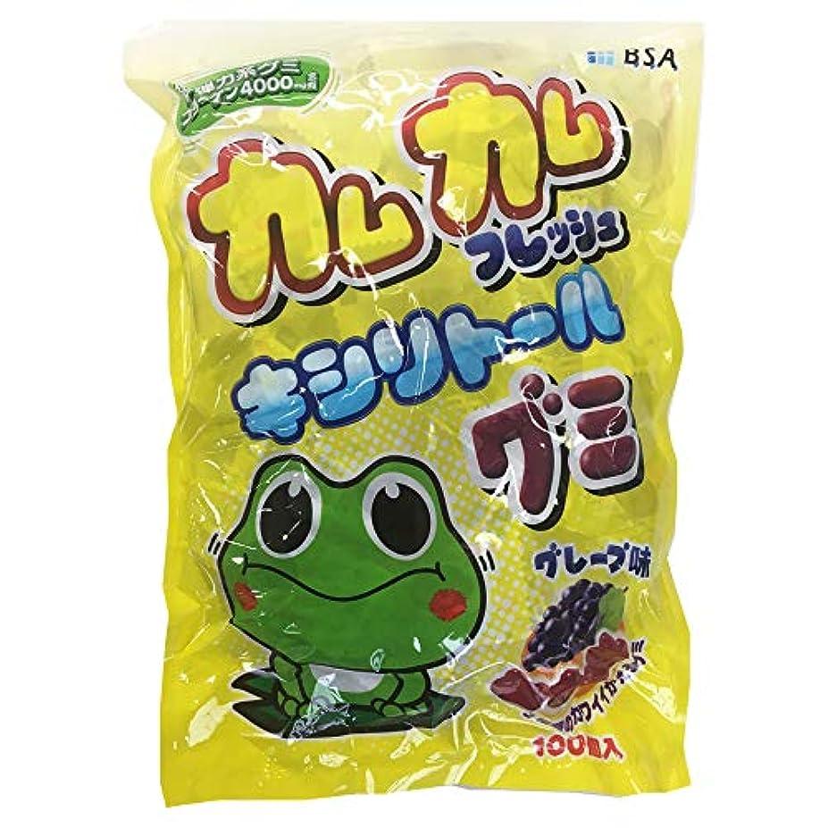 カムカムフレッシュキシリトールグミ グレープ味 大袋100粒入