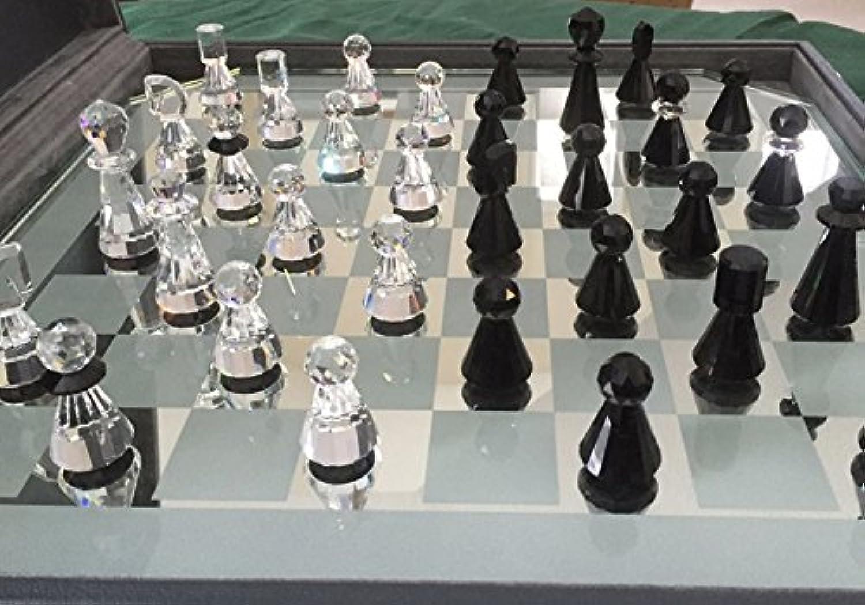 チェスSwarovski Silver Crystal Chess Set [並行輸入品]