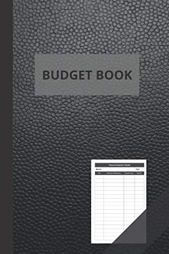 Budget Book: Personal Expense Tracker | Simple Expense Book | Good Quality Leather Look | Size 6x9 inches | 111 pages