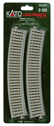 HOユニトラック線路 曲線線路 R610-22.5° (4本入) #2-220
