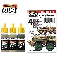 AmmoのMig - Bundeswehrアフガニスタンスキームセットアクリル色3 Jars 17 ml # 7104