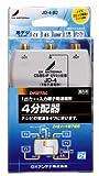 DXアンテナ 屋内用4分配器 入出力端子金メッキF形座仕様 1端子通電 JD-4-B2