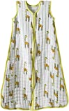 aden + anais (エイデンアンドアネイ) 【日本正規品】 モスリンコットン 厚手スリーパー jungle jam - giraffe cozy sleeping bag - large-1020
