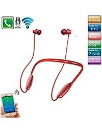 iPhone XS Max イヤホン Bluetooth フィット、elecfanJ ヘッドセット 高音質 高級感 ネックバンド型 イヤホン ワイヤレbluetooth 4.1 防汗 防水 マイク内蔵 ノイズキャンセリング...