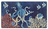 """カウンターアート'インディゴocean-coral 'アンチ疲労フロアマット、30x 20"""""""