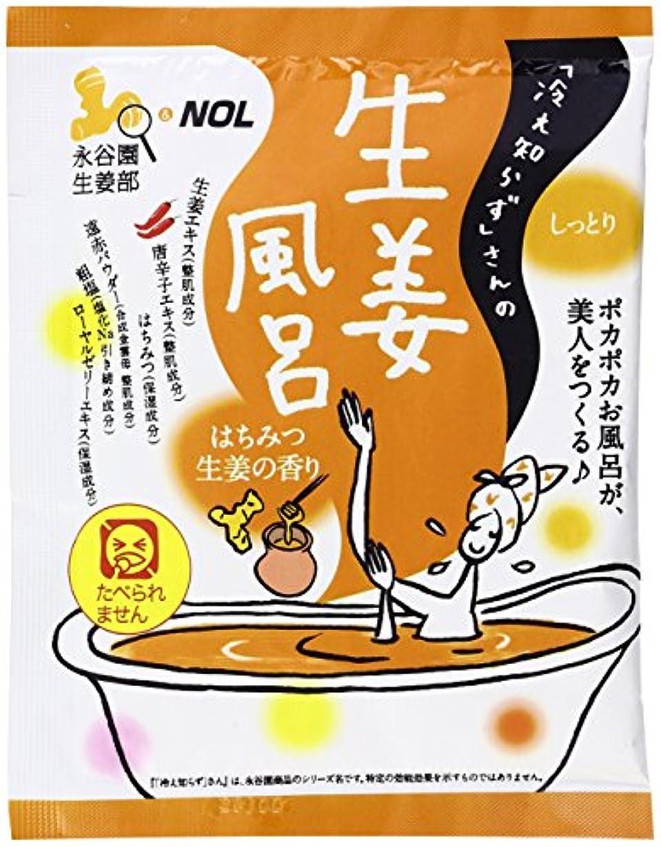 葉を集める色合い道ノルコーポレーション 入浴剤 冷え知らずさんの生姜風呂 40g はちみつ生姜の香り NGT-1-02