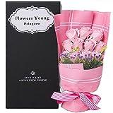 Fiore d'Amour  枯れない花 フラワーソープ 造花 大切な人に気持ちを伝える花束 バレンタイン 母の日 誕生日 ホワイトデー 入学 卒業 結婚記念日 先生の日 昇進 転居 など 様々な お祝い 最適なプレゼント (ピンク薔薇)