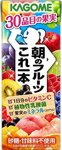 カゴメ 朝のフルーツこれ一本 200ml ×24本