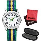 【1本用時計ケース・マイクロファイバークロス2枚セット】[タイメックス]TIMEX タイムティーチャー TIME TEACHER 腕時計 31mm(キッズ・レディスサイズ) TW7C10100 White【正規輸入品】
