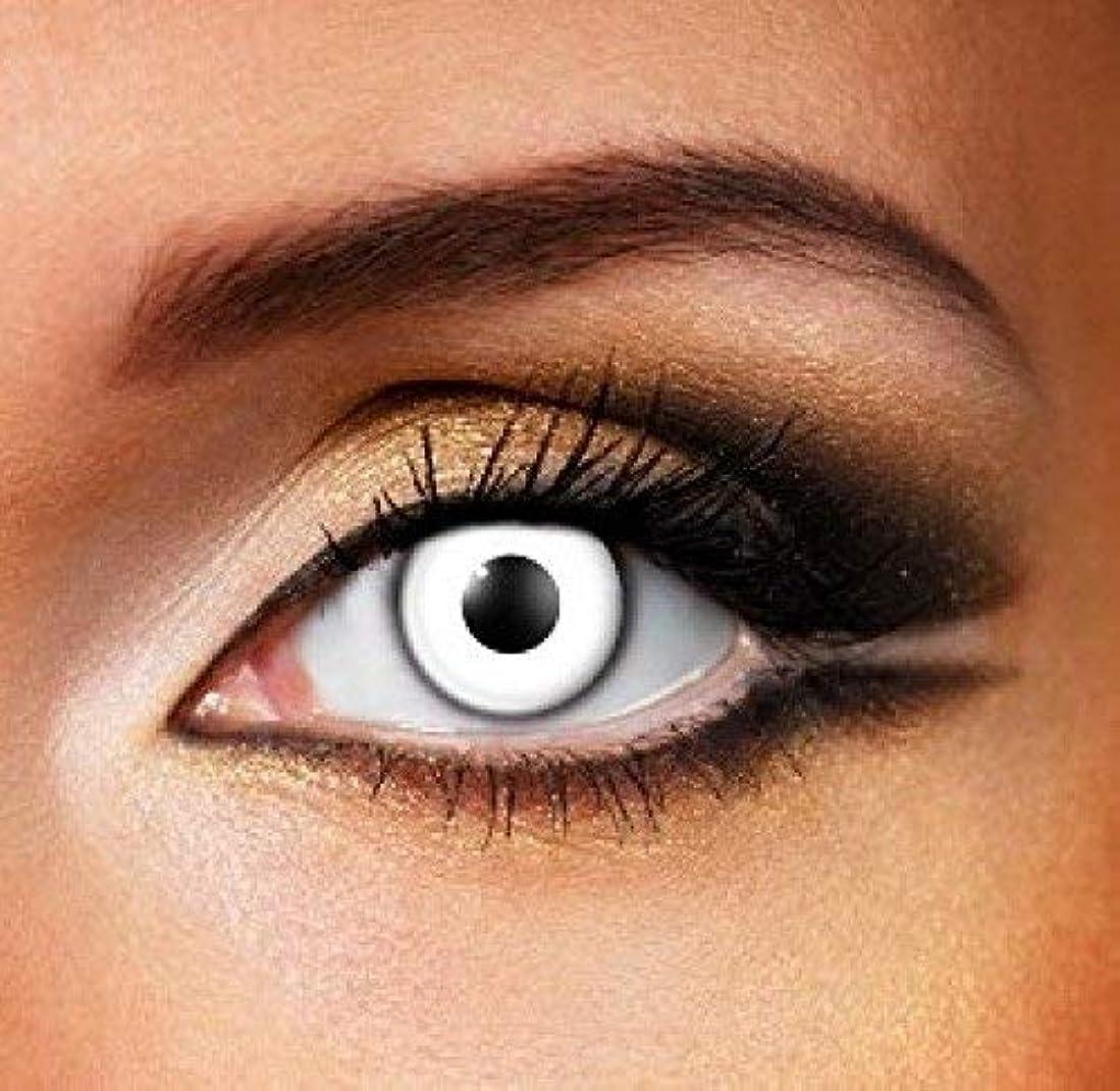 思いつくアッティカスライセンスCosplay Color Contact Lenses 化粧用コンタクトレンズ ハロウィーンコスプレ カラーコンタクトレンズ なファッションコンタクトレンズ (ホワイト)
