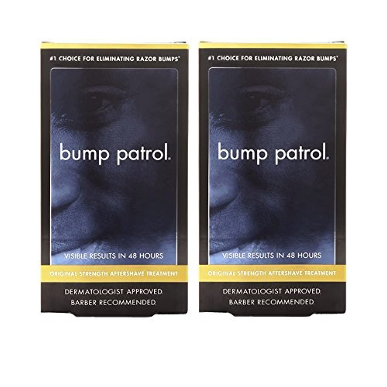 アルプス最大限ピッチャーBump Patrol Dermatologist Approved Original Strength Aftershave Treatment (2 oz) 2 Pack [並行輸入品]
